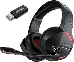هدست بازی بی سیم BINNUNE با میکروفون برای PC PS4 PS5 Playstation ، 2.4G Wireless Low Latency ، هدفون های بازی بلوتوث با میکروفن لغو سر و صدا