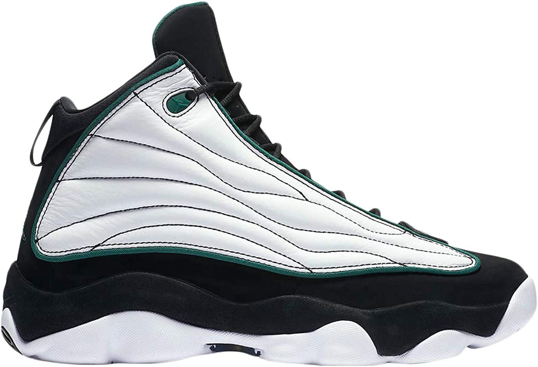 Jordan Men's Pro Strong Basketball shoes, Black Pine Green-White-Black, 10.5