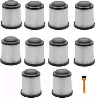 Podoy PVF110 Replacement Filter for Black & Decker PHV1810 PHV1210 BDH2000PL BDH1600PL BDH2020FLFH BDH1620FLFH Vacuum Cleaner Cartridge Filter (Pack of 10)