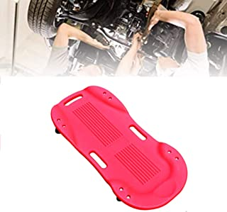 PARTS-DIYER Automotive Creeper Mechanic Plastic Creeper 36 Inch with Padded Headrest 265 Lbs Capacity Red