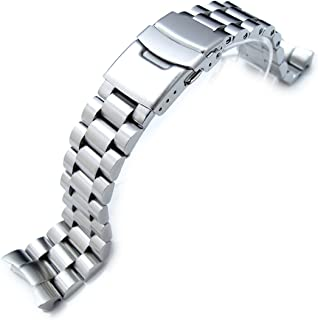 22mm Endmill watch band for SEIKO Diver SKX007, Brushed Solid Stainless Steel