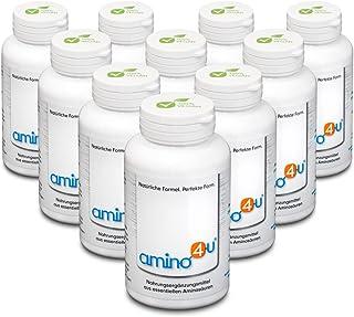 amino4u by HABACON: Persen voordeelpakket 10x120g + gratis badhanddoek/balpen - alle essentiële aminozuren, eiwitvoorzieni...