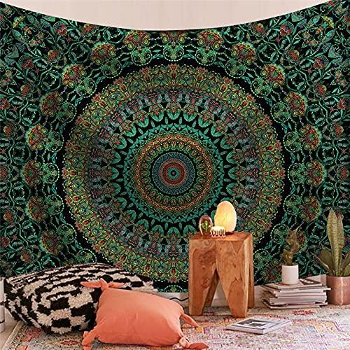 Tapiz de la serie de Mandala India estética montaje en pared Tarot bruja tapiz manta tela colgante bohemia A12 150x200cm