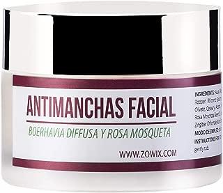 ZOWIX. Crema antimanchas facial. Antiarrugas, Hidratante y Reparadora. Crema despigmentante y quita manchas. Unifica y recupera el tono de cara y manos. 50 ml
