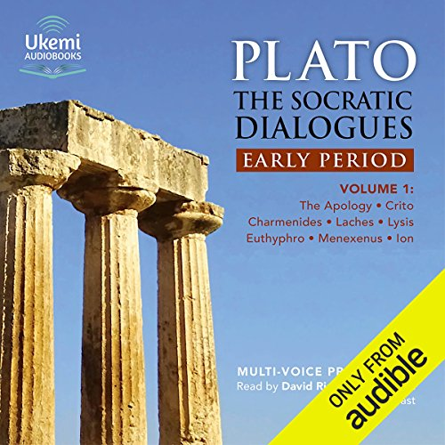 The Socratic Dialogues: Early Period, Volume 1     The Apology, Crito, Charmides, Laches, Lysis, Menexenus, Ion              De :                                                                                                                                 Plato,                                                                                        Benjamin Jowett - translator                               Lu par :                                                                                                                                 David Rintoul,                                                                                        full cast                      Durée : 6 h et 32 min     Pas de notations     Global 0,0