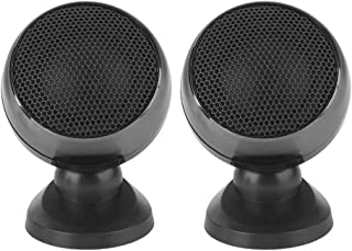Acouto 2pcs Speaker,Car Tweeter Super Power Loud Speaker Music Stereo Audio Speakers(Black)
