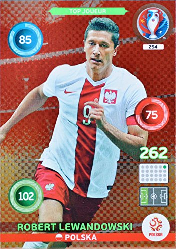 carte PANINI EURO 2016 #254 Robert Lewandowski