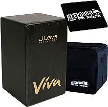 J. Leiva Viva Black cajón negro + Funda y asiento de Keepdrum Pad