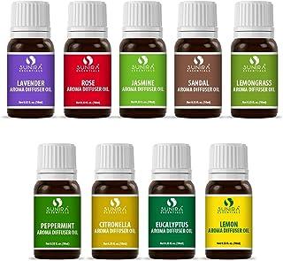 SUNIRA Aroma oil combo pack set of 09 (10ml each)