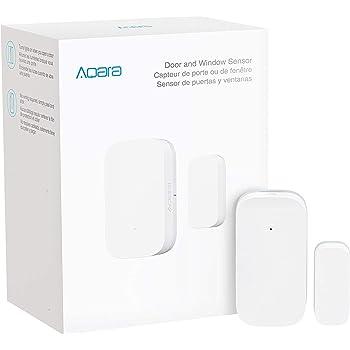 Aqara Door and Window Sensor, REQUIRES AQARA HUB, Zigbee Connection, Wireless Mini Contact Sensor for Alarm System and Smart Home Automation, Compatible with Apple HomeKit, Alexa