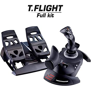 Thrustmaster pack joystick T.Flight Hotas X + palonnier TFRP- T.Flight Rudder Pedals compatible PC