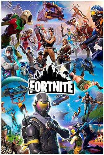 Battle Royale Video Game Posters Wall Art Gaming Painting for Boys Room Decoration ,16' x 24',Unframed Version (16' x 24') (004)