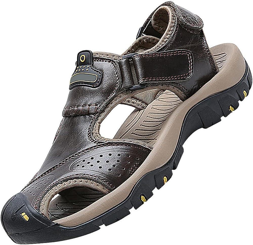 Men'S Hiking Sandals,Outdoor Handmade Adjustable Summer Fisherman Beach Sandals For Men,