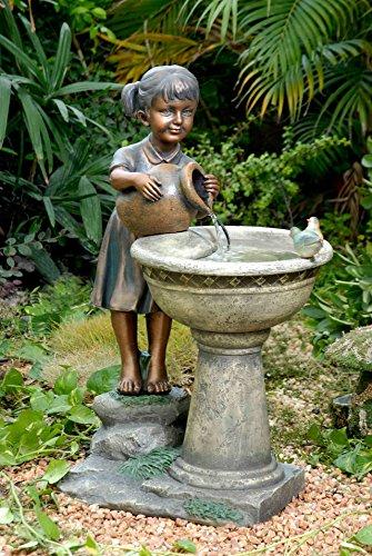 Jeco Versando Bird Bath Outdoor Water Fountain