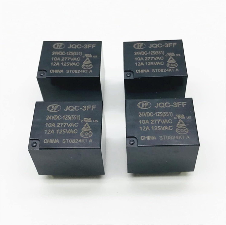 Jgzwlkj Relé 4pcs relés JQC-3FF-005-1ZS JQC-3FF-009 012 024-1ZS (551) DC 5V 9V 12V 24V 5 Patas (Size : JQC-3FF-024-1ZS)