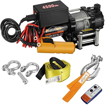 4500LBS Wireless Rope Electric Winch Towing Truck Trailer Steel Cable OffRoad