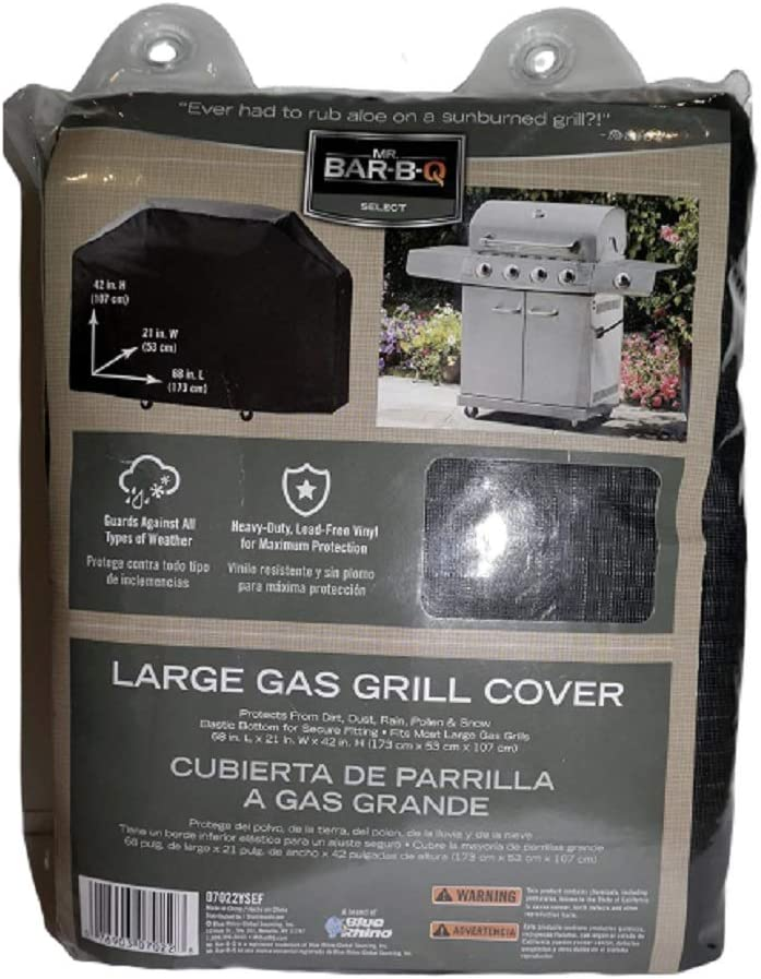 Large discharge Popular product sale Mr. Bar-B-Q Premium Gas Grill Black Cover Full Length