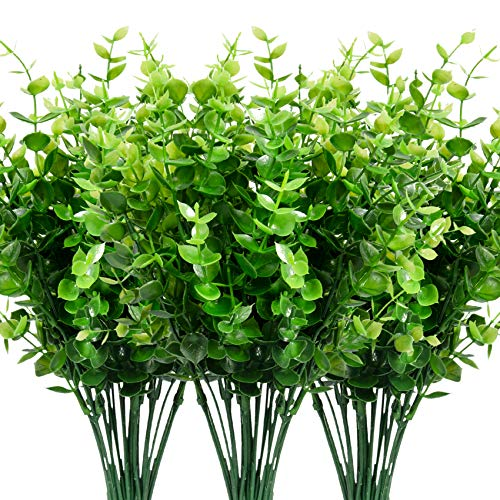 Leyaron 9 Bundles Fake Plants Artificial Boxwood Greenery 63 Stems