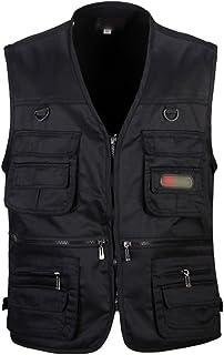 Sentao Mens Plus Size Jackets Multiple Pockets Working Vest Fishing Hunting Hiking Waistcoat