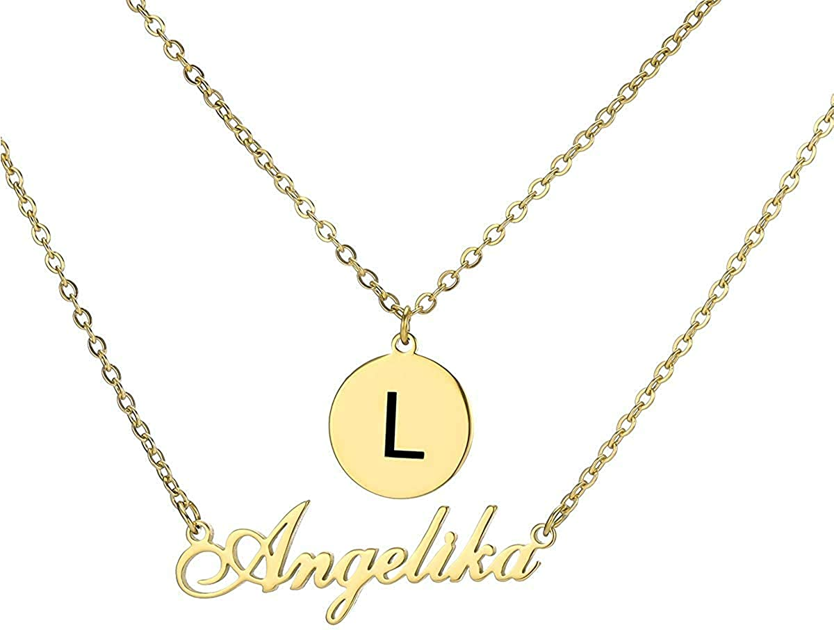 Customize gold plating colors name necklaces