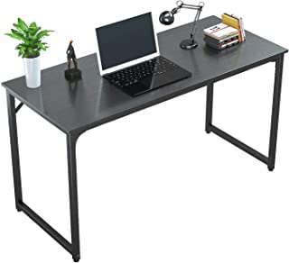"""Tycholite Computer Desk 47"""" Modern Sturdy Office Desk PC Laptop Notebook Study Writing Table for Home Office Workstation, Black"""