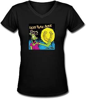 bibisc Women Less Than Jake Losing Streak Wallpaper V Neck T-Shirts 100% Cotton