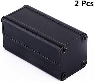"""Yosoo 2pcs New Black Extruded Aluminum Electronic Box Enclosure Project Case PCB DIY Box-1.97""""x0.98""""x0.98"""" (LxWxH)"""