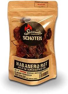 Scovillas Habanero Rot Schoten, getrocknet, 30g