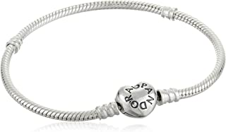 Pandora Womens Sterling Silver Fashion Bracelet - 590719-19-, Color Silver, Size 1.73 inches