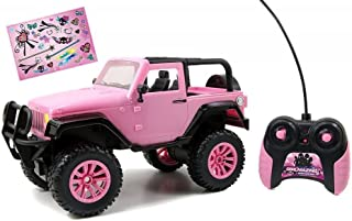 NEW 1:16 RADIO CONTROL CAR COLLECTION - PINK GIRLMAZING JEEP WRANGLER Radio Control Car BY JADA TOYS