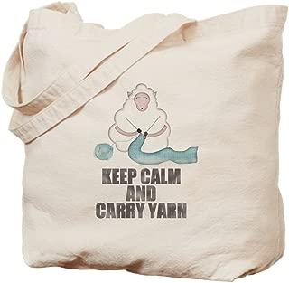CafePress - Keep Calm And Carry Yarn - Natural Canvas Tote Bag, Cloth Shopping Bag