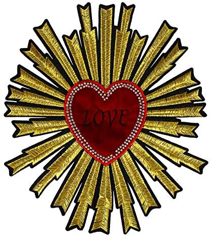 Embroidery Heart Large Patch Handmade Manufacturer OFFicial shop ...
