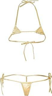 【カラバリ3色】セクシー極小マイクロビキニ【ブラック?ゴールド?シルバー】【セクシービキニ/Micro Bikini】極小水着