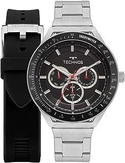 Relógio Technos Masculino Skymaster Prata Troca Pulseira 6P29AJYT1P