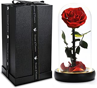 Beauty and the Beast rose, the Rose That is not Withered is a Unique Christmas Gift, Glass & Petals, Perfect for Weddings, Anniversaries, Birthday Parties