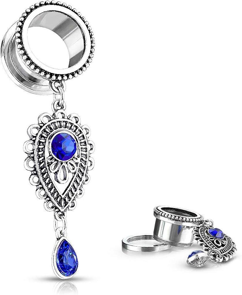 Dynamique Pair of Sapphire Blue Stone Charms Drop Tear Set Dangl Max 51% OFF Virginia Beach Mall