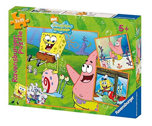 Ravensburger 09378 - Sponge Bob & Freunde, 3x49 Teile Puzzle