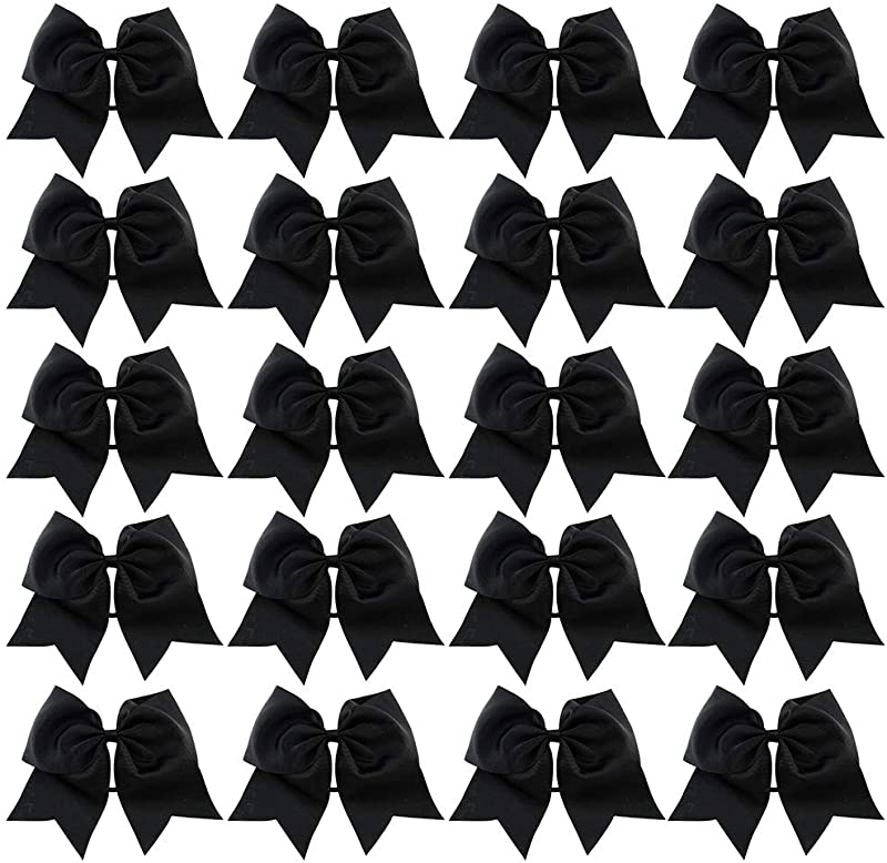 20 Pcs 6 Or 8 Large Solid Bow Hairpin Girls Bows With Rope Or Clip Hair Bows