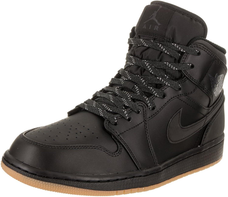 Jordan Air 1 Mid Winterized Men's shoes Black AnthraciteGum Yellow aa3992002 (9.5 D(M) US)