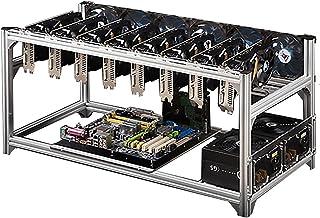 8 GPU Aluminium Gruvrigg, Stapelbart Utomhusramfodral, Dator Eth ramrigg för Atx Miner Kit, Lätt Att Montera,White