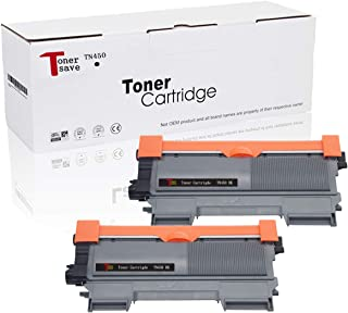 TonerSave TN450 Toner Cartridge Compatible for Brother HL-2280DW HL-2270DW DCP-7065DN MFC-7460DN MFC-7860DW MFC-7360N DCP-7070 DCP-7070DWR HL-2135W MFC-7360 2 Pack TN-420