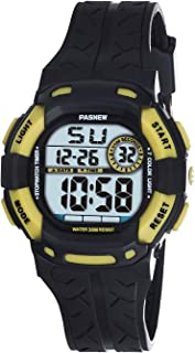 Kids Watches Waterproof 100FT Digital Sports Wristwatch with 7-Color Flashing LED Light Alarm Stopwatch Chime Date Day