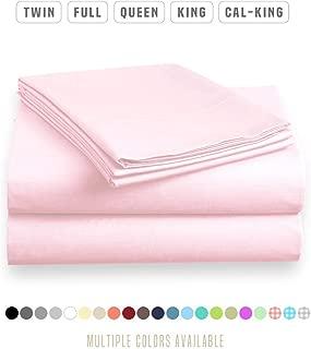 Organic Cotton Sheet Set by Roch Linen | Sheet Set Queen Size | 4 Piece Sheet Set | Bed Sheet Set | GOTS Certified Sheet | Pink Sheet Set | 800 TC 15 Inch Dp Comfy Bedding Set !!
