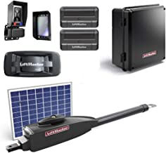 LiftMaster LA412PKGU / LA412PKGUL Gate Opener 2019 UL325 Compliant with 1 10 Watt Solar Panel, Two 811LM Remotes, 828LM MyQ Internet Gateway, Safety Photo-Eye & Free A Heavy Duty FAS Tape Measure