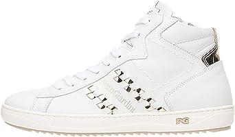 Nero Giardini P717273D Sneakers Montantes Femme en Cuir Et Toile
