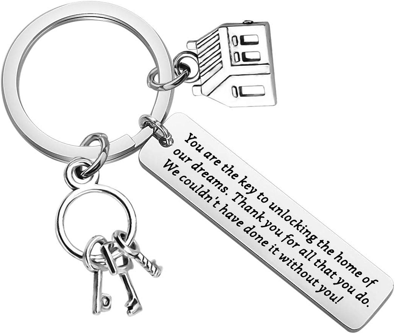 ENSIANTH Spasm price Realtor Keychain Thank Estate Popular popular You Real