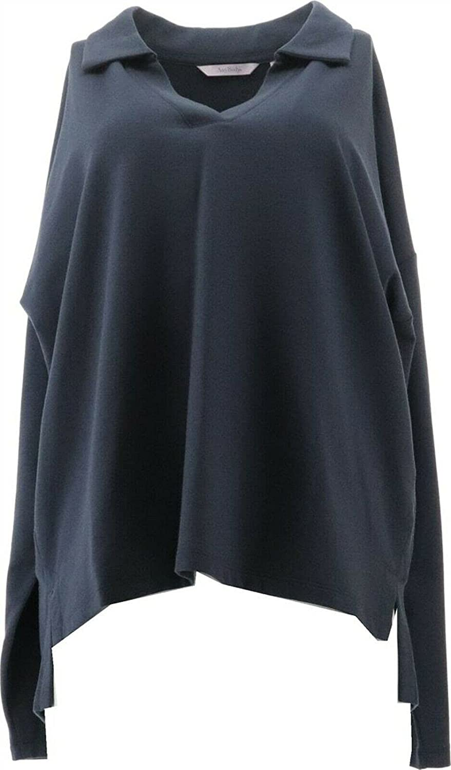 AnyBody Cozy Knit French Terry Collared Pullover A393059