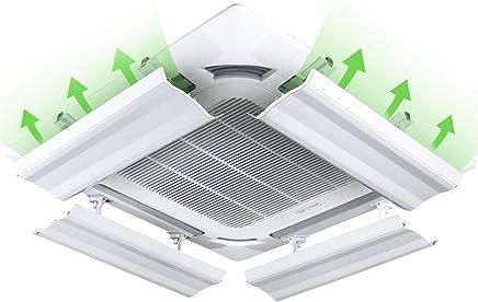 空調風デフレクター デフレクターフード中央空調風防装置ユニバーサル防風ダイレクトブローエアコンコンセント(4パック)