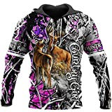 Country Deer Hunting Animal Camouflage Tattoo Pullover Tuta...