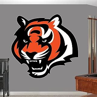 Cincinnati Bengals Sticker, Cincinnati Bengals Decal, Bengals Decal, Bengals Sticker, Bengals Home Decor, Cincinnati Bengals car Sticker, NFL Bengals Sticker, NFL Decal, Bengals Wall Decal f15 (5x5)